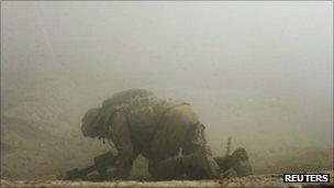 File photo of wounded Canadian soldier in Afghanistan (October 2007)