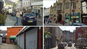 Aberystwyth, Wrecsam, Merthyr Tudful, Yr Wyddgrug