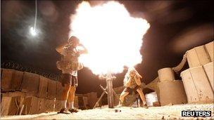 File photo of US mortar team in Afghanistan