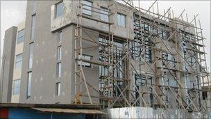 Construction work in Monrovia