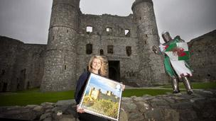 Rachel Williams, curadur Castell Harlech