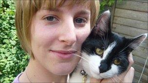 Jo Yeates holding her cat