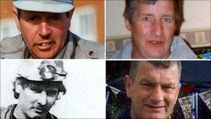 Bu farw pedwar glöwr yn y drychineb: Charles Breslin, Phillip Hill, Garry Jenkins a David Powell