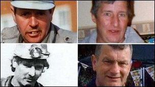 Charles Breslin, Phillip Hill, Garry Jenkins a David Powell