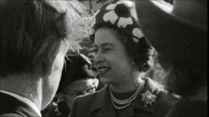 Queen at the M62 opening ceremony
