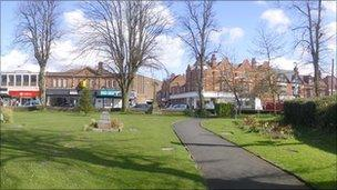 Kings Heath village square