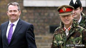 Liam Fox and Sir David Richards