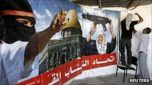 Palestinians in East Jerusalem prepare to welcome home released prisoner. 17 Oct