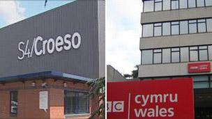 Pencadlysoedd S4C a BBC Cymru
