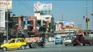 A Rawalpindi street scene