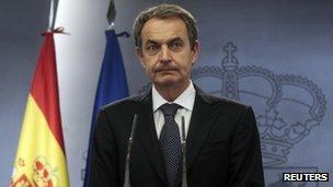 Spanish Prime Minister Jose Luis Zapatero