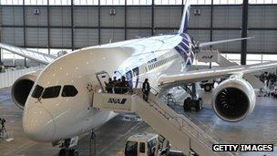 An ANA Dreamliner jet