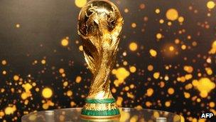 Fifa World Cup trophy in file image from 2006