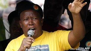 Julius Malema addresses a crowd