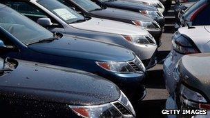 Saab cars at dealership