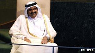 Sheikh Hamad bin Khalifa al-Thani of Qatar, September 2011