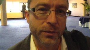 Jimmy Wales at the conference