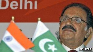Pakistan's Trade Minister Makhdoom Amin Fahim in Delhi, 29 Sept
