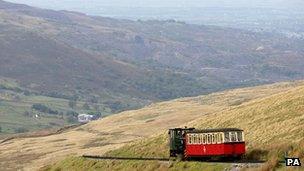 Tren bach yr Wyddfa