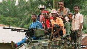 Gunmen in Liberia (archive shot)