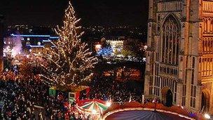 Norwich's Christmas lights