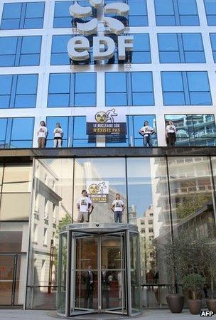 Protest at EdF headquarters