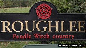Roughlee sign