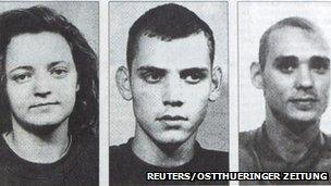 Beate Zschaepe, Uwe Mundlos and Uwe Boenhardt