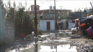 Flooded street in Hay al-Tannak