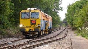 Locomotive on the High Marnham line at Tuxford Station
