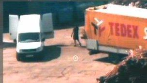 Surveillance footage of illegal vodka factory