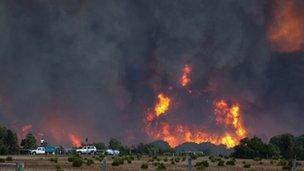 Bush fire in Western Australia