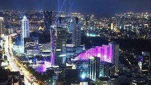 Istanbul's financial district
