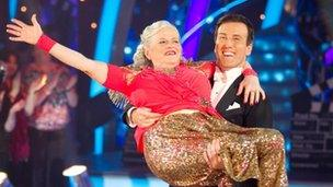 Ann Widdecombe with her Strictly Come Dancing partner Anton Du Beke
