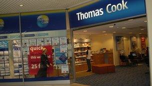 A Thomas Cook branch