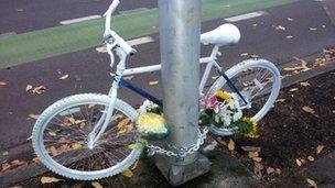 bike memorial to Craig Macfie