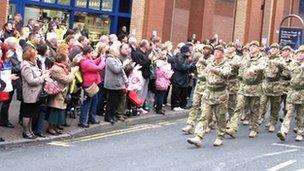 Mercian Regiment homecoming parade