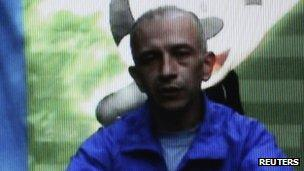 Colombian hostage Col Edgar Duarte in a video released by the Farc in 2010