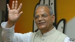 Former Indian telecoms minister Sukh Ram