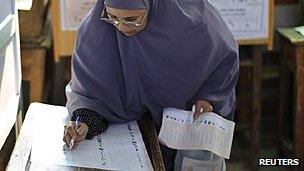 Egyptian voter