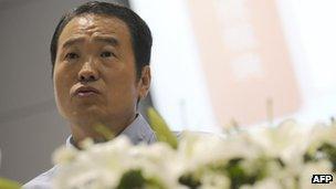 File image of Huang Nubo at a press conference on 2 September 2011