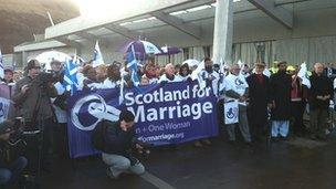 Scotland For Marriage rally Pic: John Easton