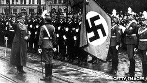 Hitler with SS troops, 1 Jan 39