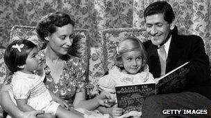 A traditional family in the 1950s