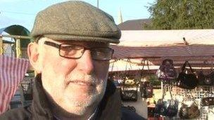 Clive O'Neill has worked in Newtownards market for longer than 35 years.