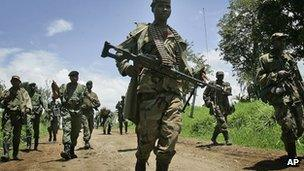 Rebels pictured in eastern DR Congo in 2008