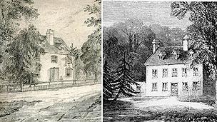 Contemporary drawings of Steventon rectory