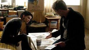 Scene from Girl with the Dragon Tattoo