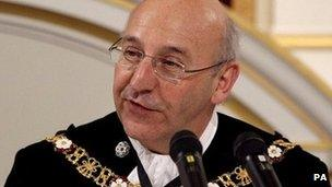 Michael Bear, the former Lord Mayor of the City of London