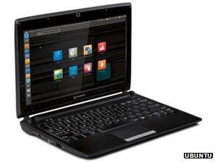 Laptop running Ubuntu